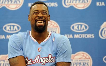 DeAndre Jordan all smiles