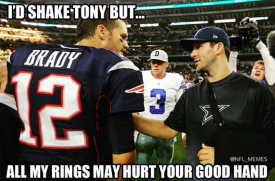 brady romo a look at the 10 funniest new england patriots memes new arena
