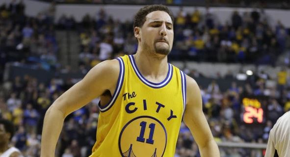 "ea7fbc10e2e Klay Thompson Is Sick And Tired Of Talking About Golden State s ""Sacrifice"".  With the addition of Kevin Durant ..."