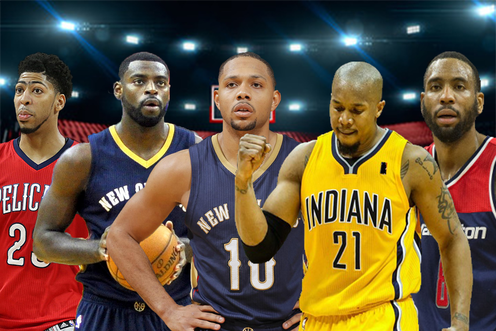 8659a029ea07 30. New Orleans Pelicans  Tyreke Evans-Eric Gordon-Rasual Butler-David  West-Anthony Davis