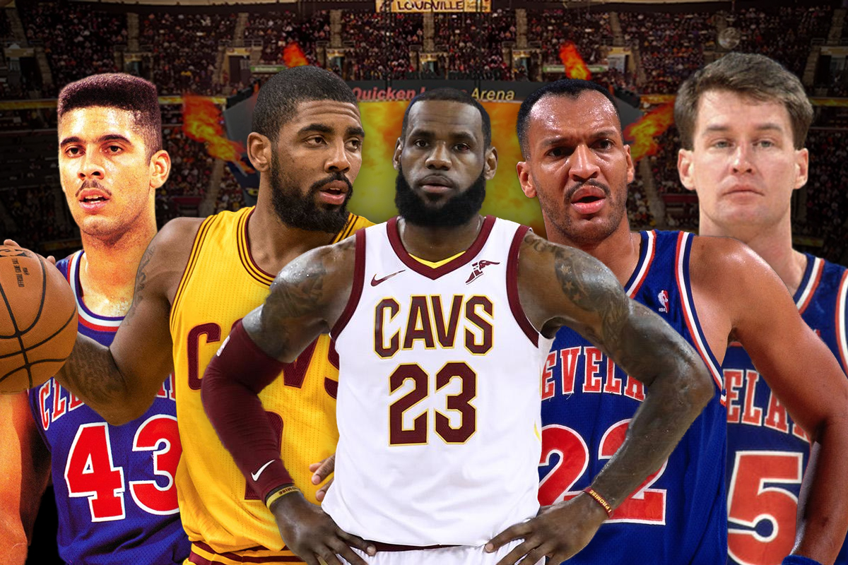 13. Cleveland Cavaliers: Mark Price-Kyrie Irving-LeBron James-Larry Nance-Brad Daughtery