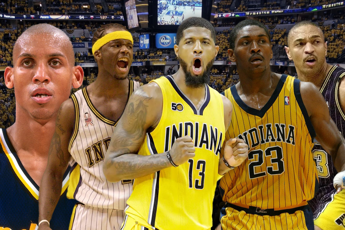 18. Indiana Pacers: Mark Jackson-Reggie Miller-Paul George-Ron Artest- Jermaine O'Neal