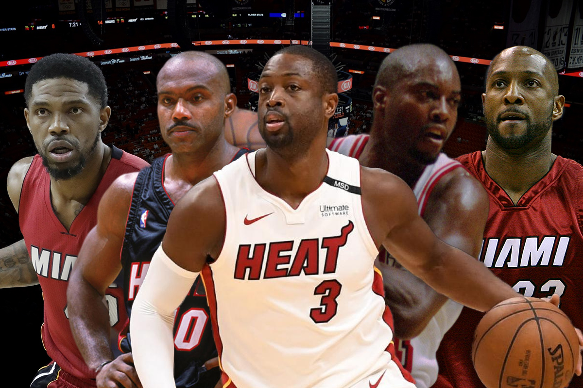 21. Miami Heat: Tim Hardaway-Dwyane Wade-Glen Rice-Udonis Haslem-Alonzo Mourning
