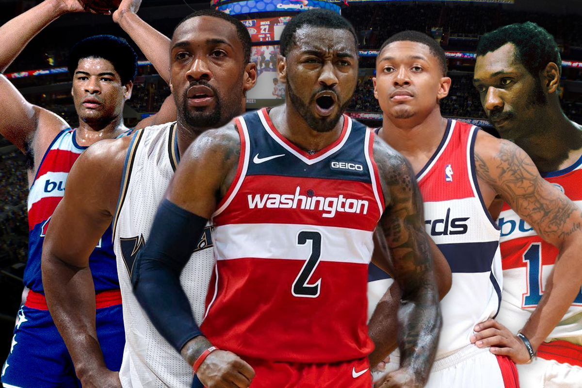 26. Washington Wizards: Gilbert Arenas-John Wall-Bradley Beal-Elvin Hayes-Wes Unseld