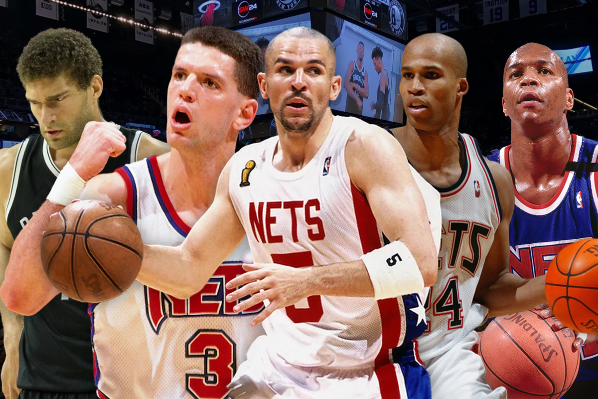 28. Brooklyn Nets: Jason Kidd-Drazen Petrovic-Richard Jefferson-Derrick Coleman-Brook Lopez