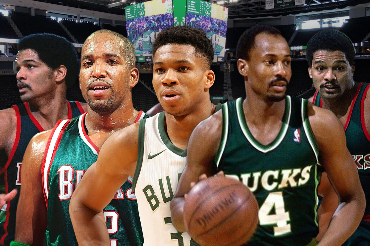 29. Milwaukee Bucks: Sidney Moncrief-Michael Redd-Giannis Antetokounmpo-Marques Johnson-Bob Lanier