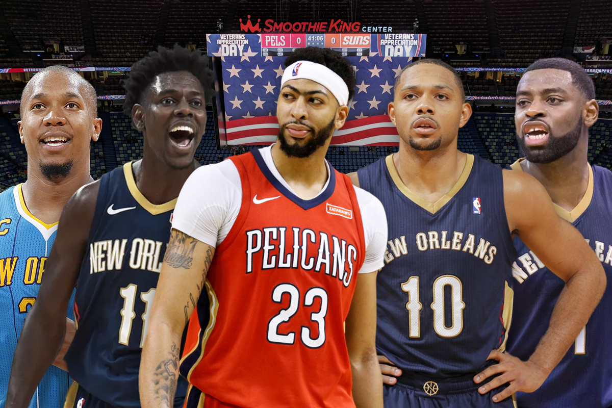 30. New Orleans Pelicans: Jrue Holiday-Eric Gordon-Tyreke Evans-David West-Anthony Davis