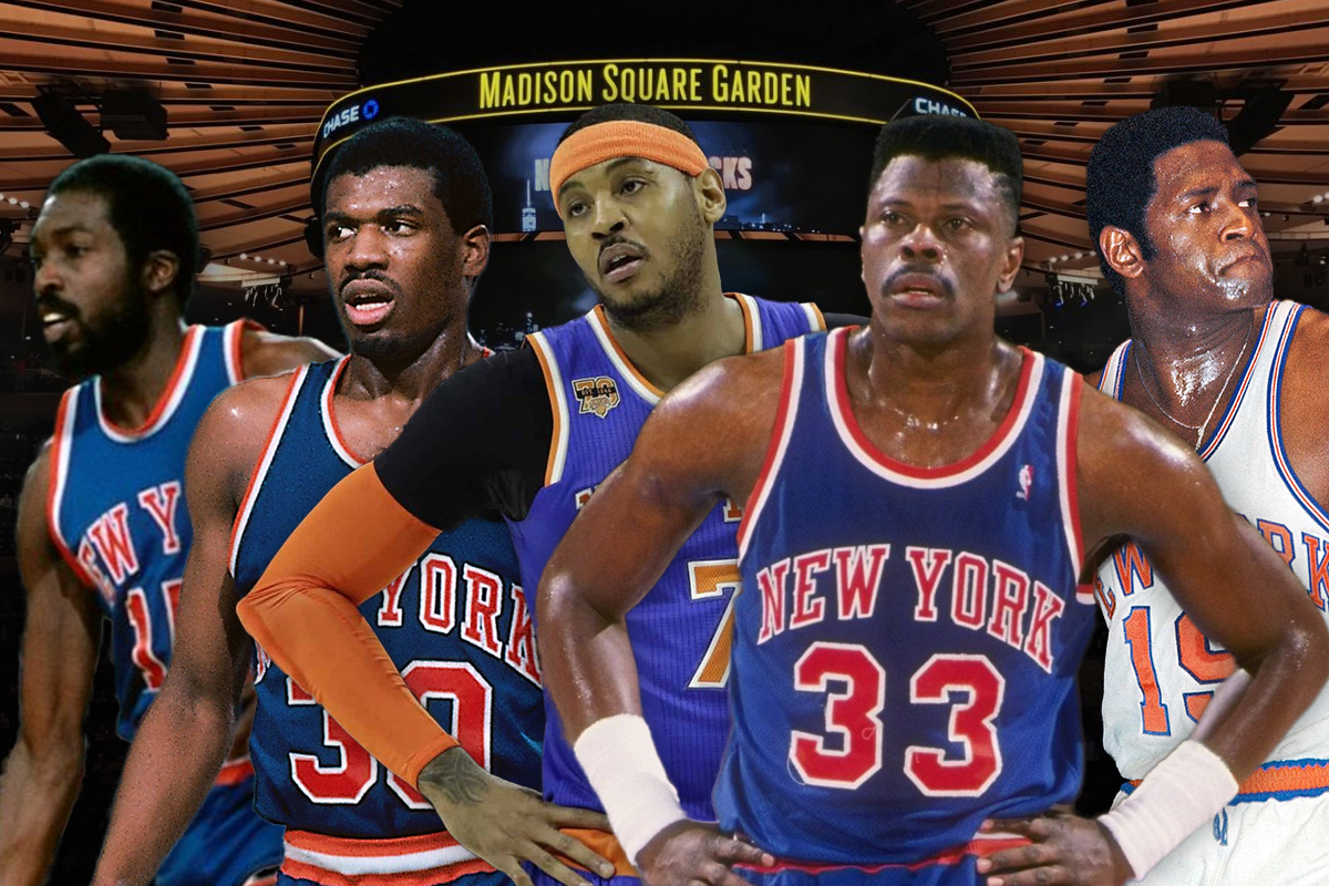 9. New York Knicks: Earl Monroe-Bernard King-Carmelo Anthony-Willis Reed-Patrick Ewing